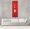Space Radish sample canvas art on a wall with sofa