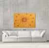 Tzhai sample canvas art on a wall with sofa