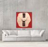 Yin Yang sample canvas art on a wall with sofa