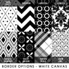 Border options for White Canvas Mini Prints