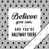 Inspirational & motivational silver metallic print with decorative border