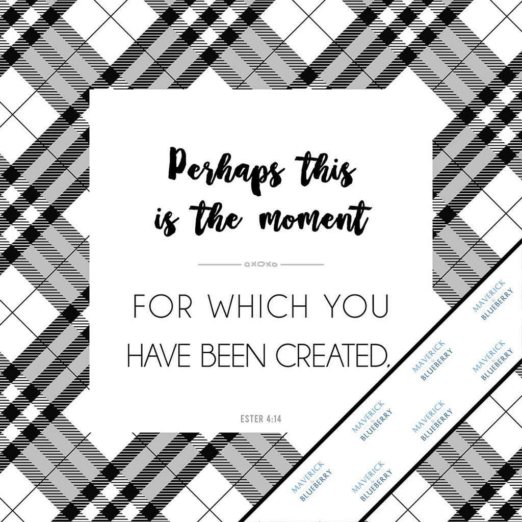 Inspirational & motivational white canvas Mini Print with decorative border