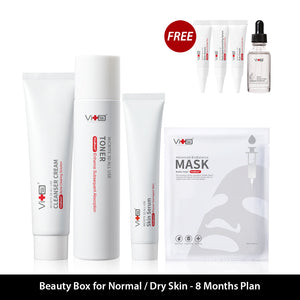 Beauty Box For Normal/Dry Skin  - 8 Months Plan