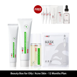 Beauty Box For Oily/Acne Skin  - 12 Months Plan