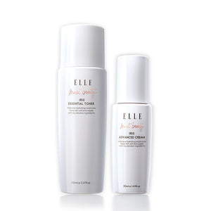 [ELLE SKINCARE Moisture Glowing Duo] Iris Toner + Iris Advanced Cream