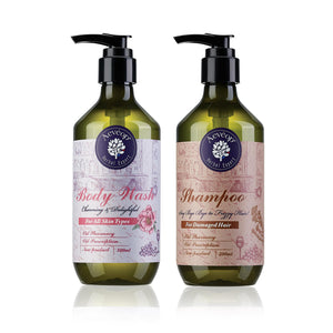 [Aevéop Bath Set] Cherry Blossom Body Wash + Shampoo