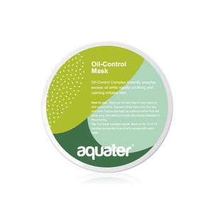【Buy 1 Free 1 Set】aquater Oil-Control Mask (260g) *3D MICRITE CLEANSER CREAM 30G + TONER 30ML+ MOMO MASK 1PC