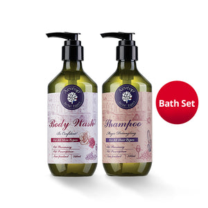 [Aevéop Bath Set] Elegant Rose Body Wash + Shampoo