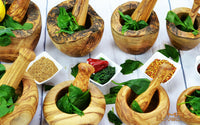 Mr Olive Wood Mortars and Pestles Collection