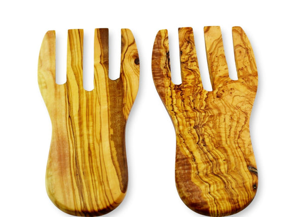 olive wood salad serving hands by MR OLIVEWOOD®