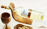 olive wood wine bottle holder stand by mr olive wood