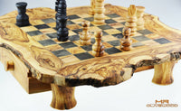 olive wood chess board m by mr olive wood