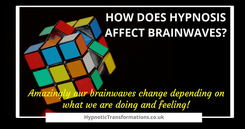 How does hypnosis affect brain waves?