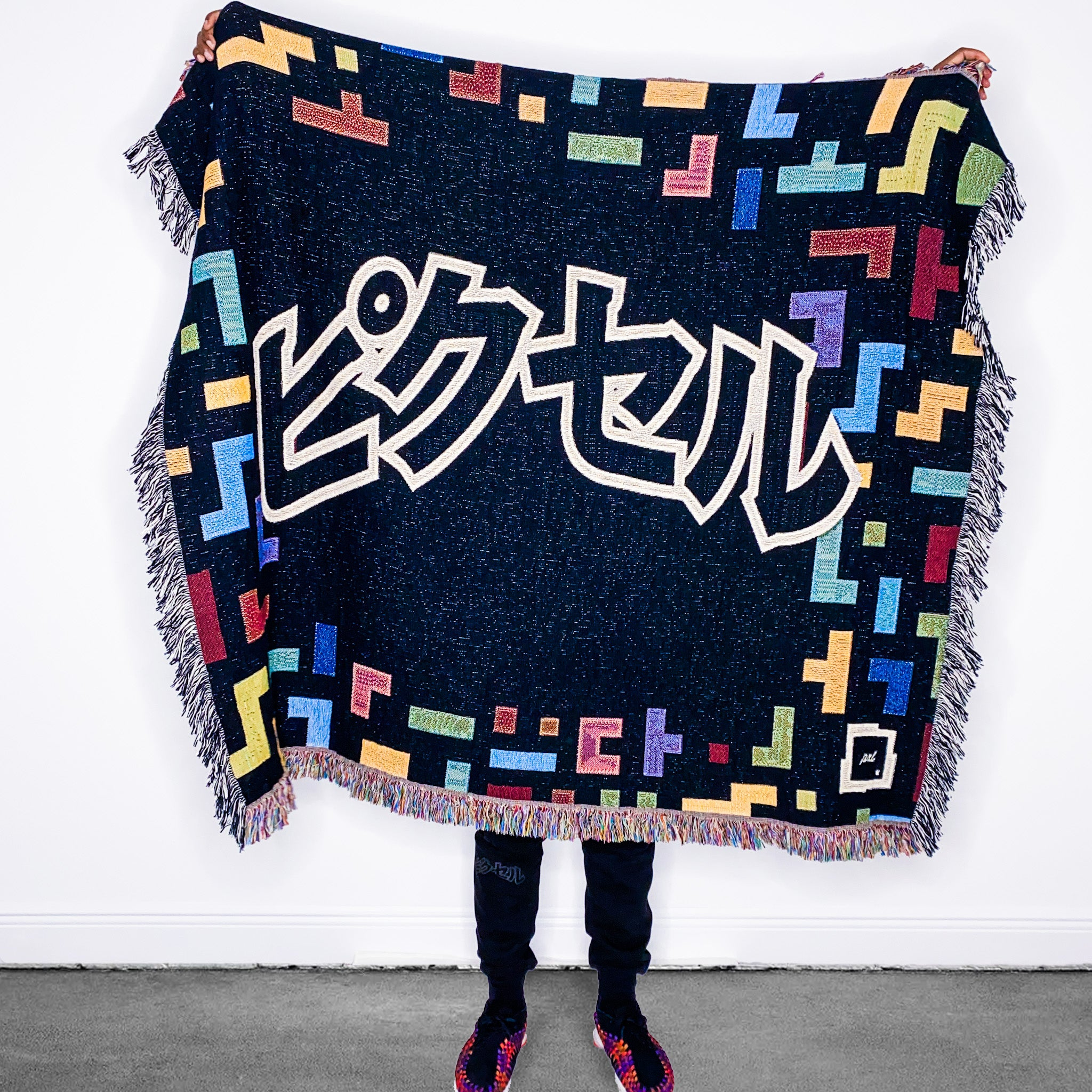 "PXL DECOR ""Falling Pixels"" Woven Throw Blanket ***PRE-ORDER***"