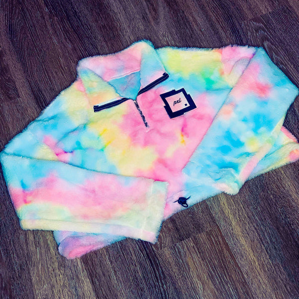 PXL Tie Dye Crop Fleece