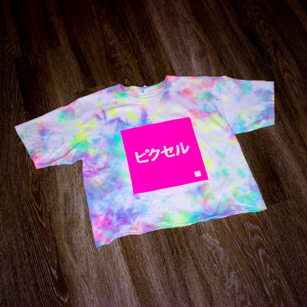 Remix Collection: Tie-Dye PXL Crop Tee