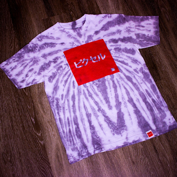 Remix Collection: Tie-Dye OG PXL Logo Tee - Charcoal