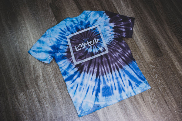 Remix Collection: Great Wave Tie Dye Reflective Katakana Logo Tee