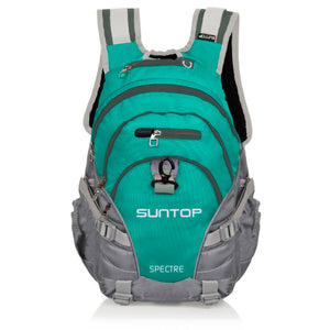 Suntop Spectre 35 Ltr Turquoise Blue & Grey Laptop Backpack (with Raincover) 35.0 L Laptop Backpack
