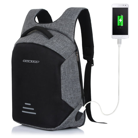 Suntop 30 Litre Anti Theft Backpack with USB Charging Port - Black (Waterproof, Durable, Anti-Theft)