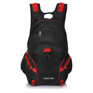 Suntop Spectre Water Resistant Backpack Bag (Black and Red)