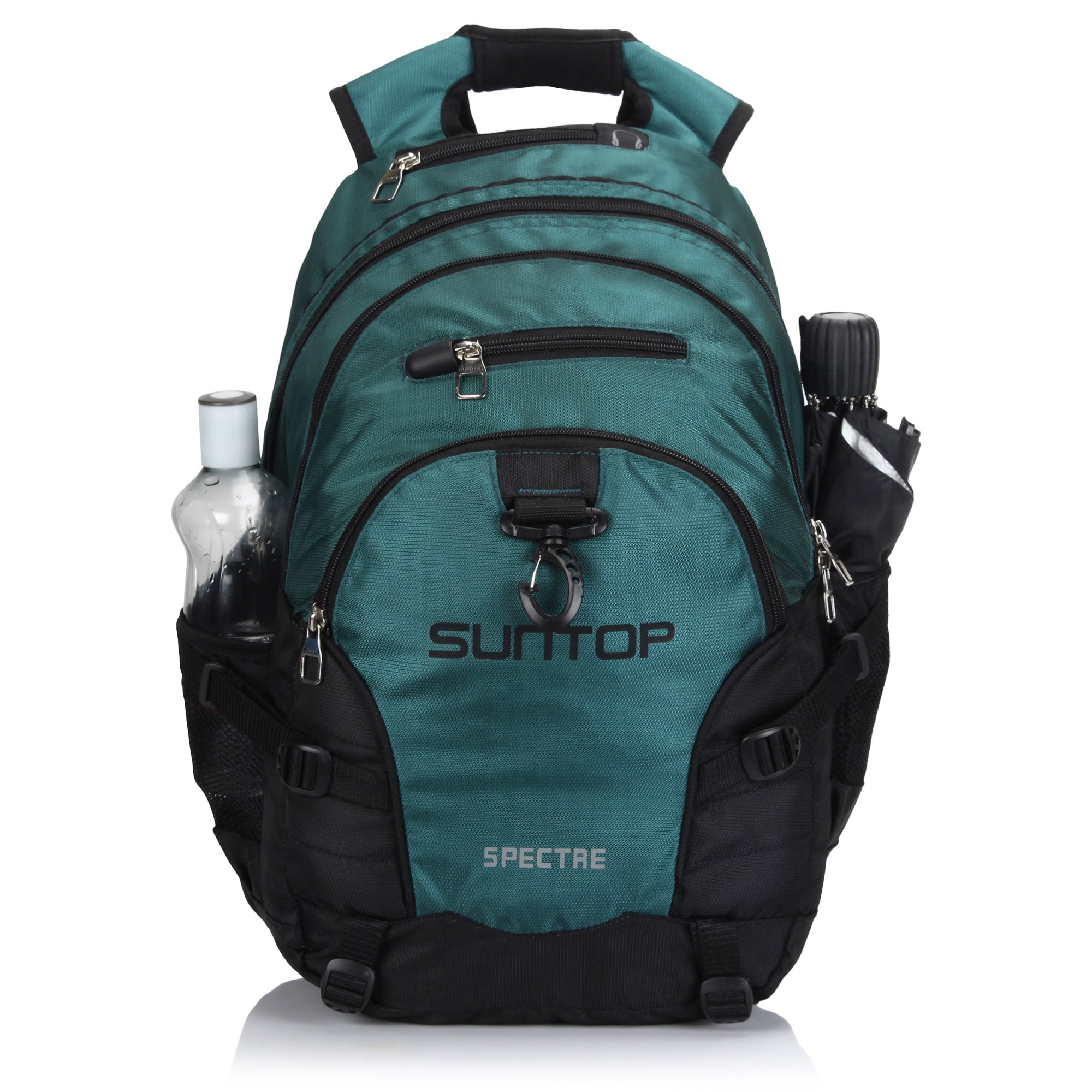 Suntop Spectre Water Resistant Backpack Bag (Black and Blue)