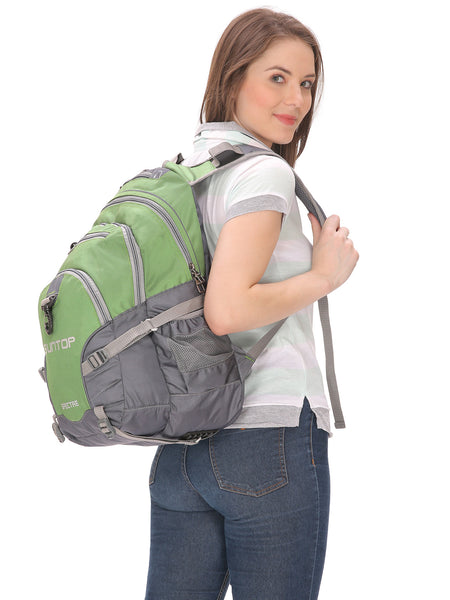 Suntop Spectre Water Resistant Backpack Bag (Green and Grey)