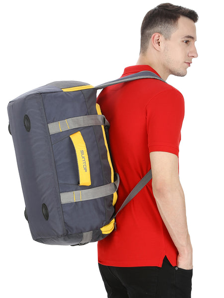 Suntop Sports/Gym Backpack with Shoe Pocket (Grey)
