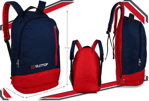 Suntop Air One 20 Litres Lightweight Backpack Bag with Shoe Compartment (Blue)