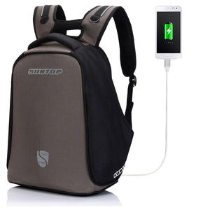 Suntop Anti-Theft TechShield USB Backpack (Grey)