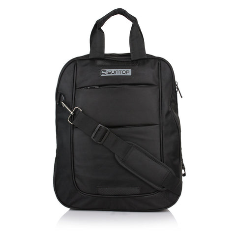 Suntop 15.6 inch Laptop Messenger Bag(Black and Black)