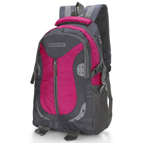 Suntop Neo 9 26 L Medium Backpack(Graphite Grey and Magenta Checks)