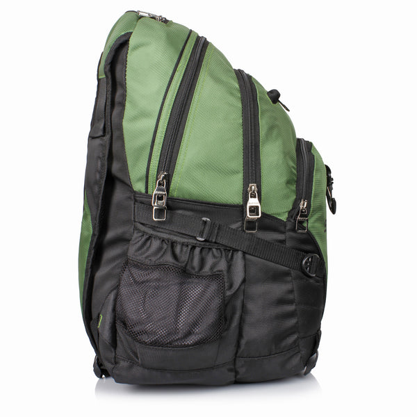 Suntop Spectre Water Resistant Backpack Bag (Green and Black)