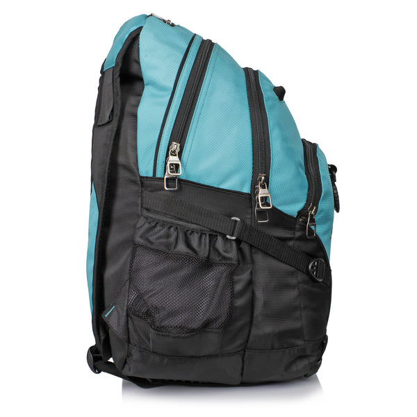 Suntop Spectre Water Resistant Backpack Bag (Sea Green and Black)