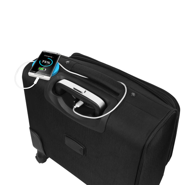 Suntop USB Laptop Roller case 4 wheel Trolley for Laptops upto 15.6 inches