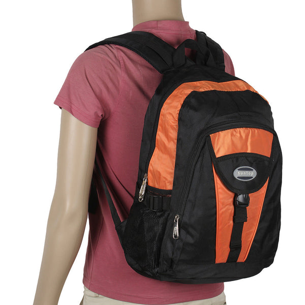 Suntop A16 21 L Backpack(Black and Orange)