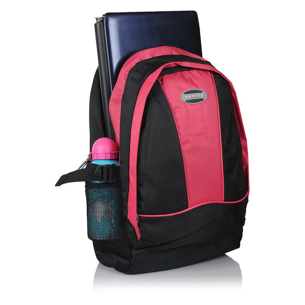 Suntop A17 22 L Backpack(Black and Pink)