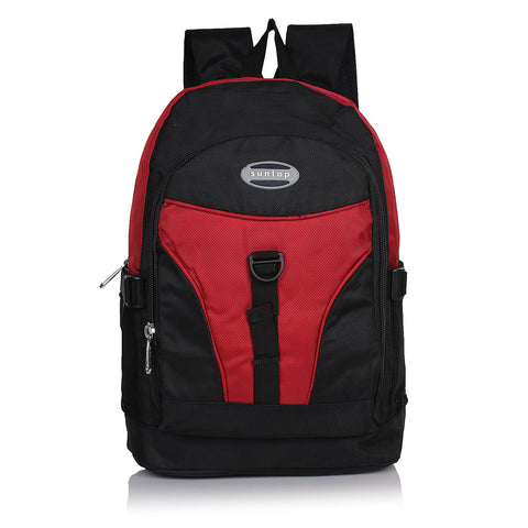 Suntop A23 19 L Backpack(Black and Red)