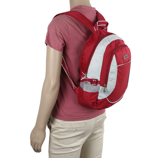Suntop A35 14 L Backpack(Red and Cream)