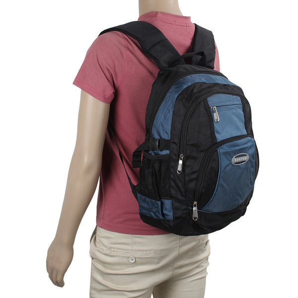 Suntop A36 17 L Backpack(Sky Blue and Black)