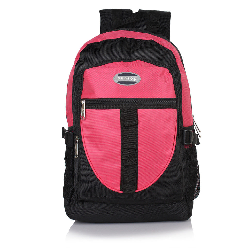 Suntop A44 22 L Backpack(Black and Pink)