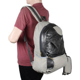 Suntop A54 22 L Backpack(Cream and Silver)