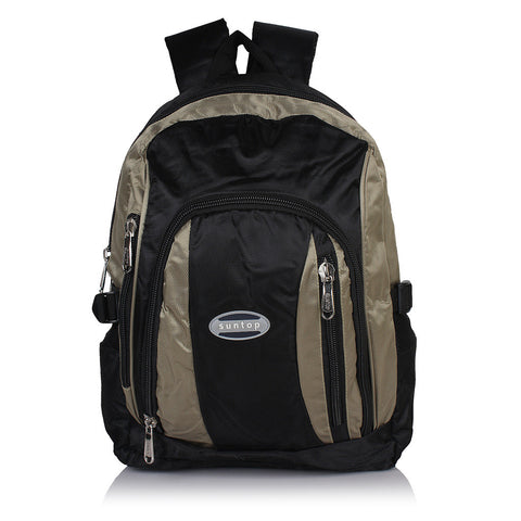 Suntop A56 16 L Backpack(Black and Silver)