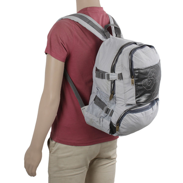 Suntop A95 17 L Backpack(Cream and Silver)