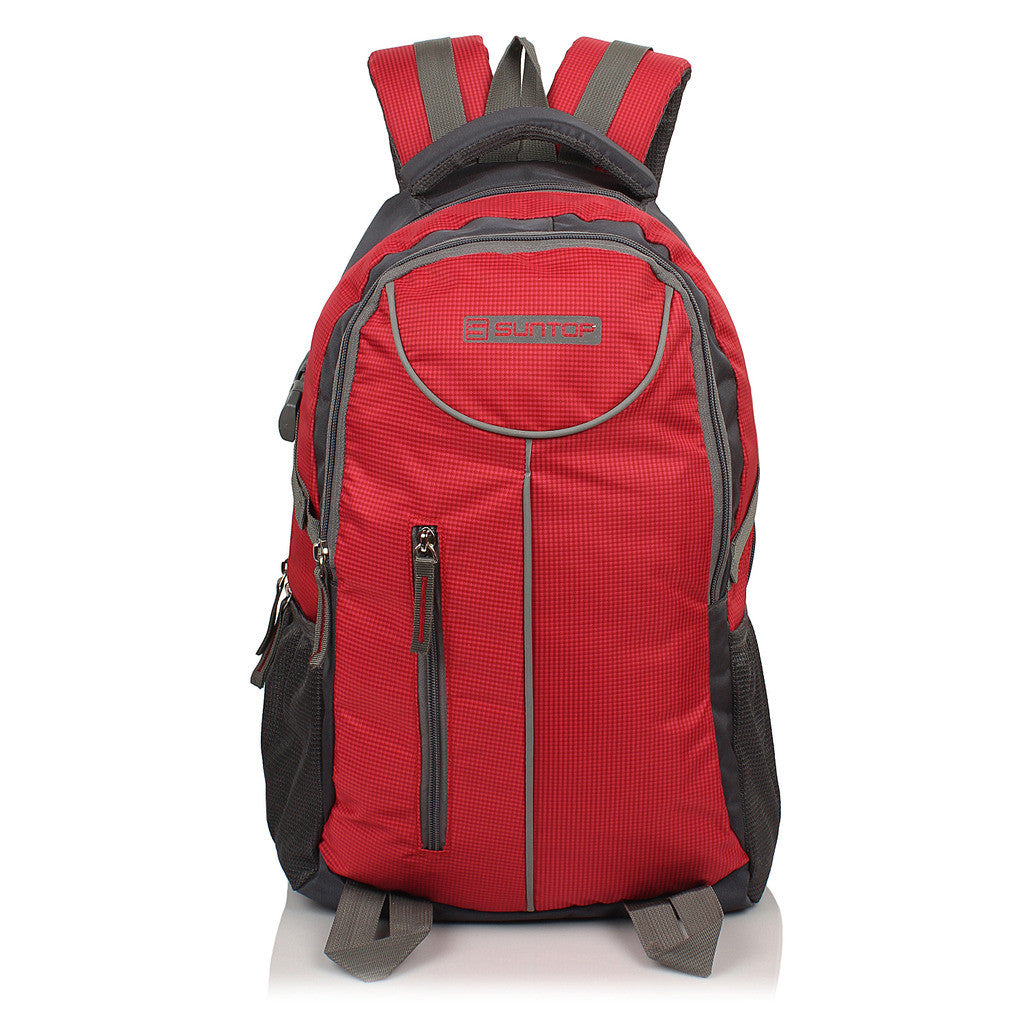 Suntop Neo 7 26 L Medium Backpack(Grey, Red Checks)