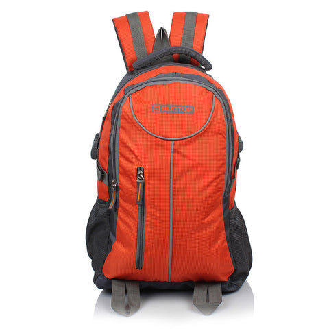 Suntop Neo 7 26 L Medium Backpack(Grey and Orange Checks)
