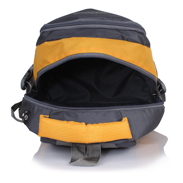 Suntop Neo 9 26 L Medium Backpack(Grey and Yellow Checks)
