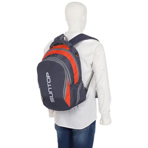 Suntop Neo3 25 L Medium Backpack(Grey and Orange Checks)