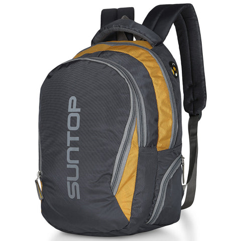 Suntop Neo3 25 L Medium Backpack(Grey and Yellow Checks)