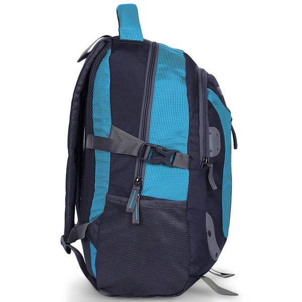 Suntop Neo 9 26 L Medium Backpack(Grey and Sky Blue Checks)